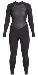 XCEL WETSUITS 2019 WOMENS AXIS 3/2MM BACKZIP - BLACK/GOJI-BERRY LOGO