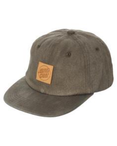 SANTA CRUZ PITCH LEATHER DOT CAP -  ACID BLACK