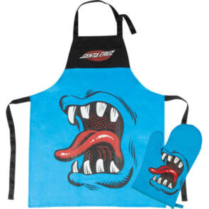 SANTA CRUZ PHILLIPS HAND BBQ APRON W/MITT BLUE/BLACK