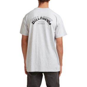 BILLABONG CORE ARCH SHORT SLEEVE T-SHIRT LT GREY HEAT