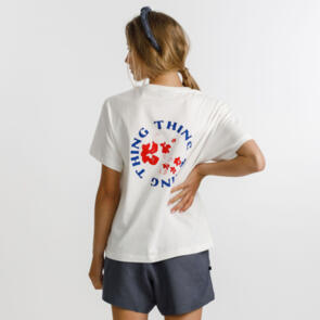 THING THING PRIME TEE WHITE WITH FLORA PRINT