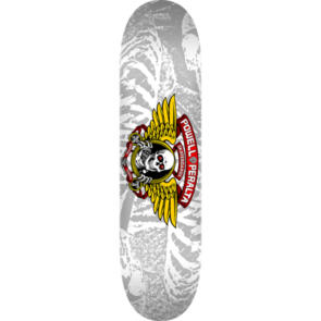 POWELL PERALTA BIRCH WINGED RIPPER DECK SILVER 8.0