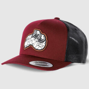THE MAD HUEYS COOKED SHOEY TWILL TRUCKER PLUM