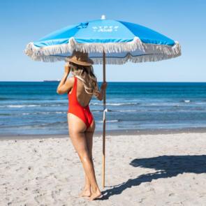 HYPER RIDE BEACH UMBRELLA + 2 X TOWELS + 2 X DRINK BOTTLES