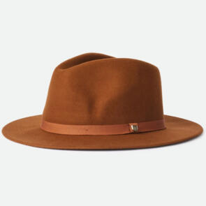 BRIXTON MESSER PACKABLE FEDORA COFFEE