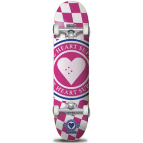"""THE HEART SUPPLY INSIGNIA CHECK COMPLETE PINK 7.75"""""""""""