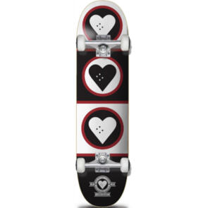 """THE HEART SUPPLY SQUAD COMPLETE BLACK/WHITE/RED 8.25"""""""""""