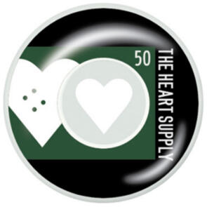 "THE HEART SUPPLY EVEN WHEELS HUNTER GREEN 50MM"""""