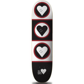 """THE HEART SUPPLY SQUAD DECK BLACK/WHITE 8.5"""""""""""