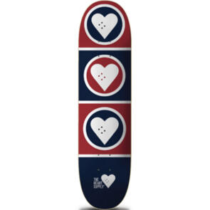 """THE HEART SUPPLY SQUAD DECK BLUE/RED 8"""""""""""