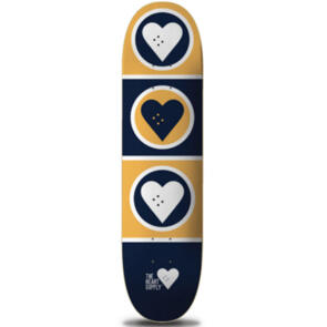 """THE HEART SUPPLY SQUAD DECK BLUE/YELLOW 7.75"""""""""""