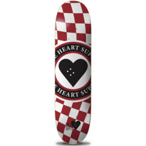 """THE HEART SUPPLY INSIGNIA CHECK DECK RED  8.25"""""""""""