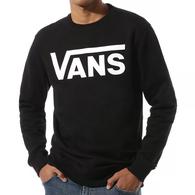 VANS CLASSIC CREW 2 BLACK WHITE