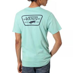 VANS FULL PATCH TEE DUSTY JADE GREEN DRESS BLUES