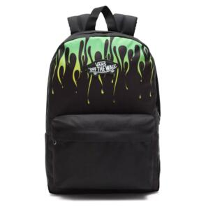VANS NEW SKOOL BACKPACK BOYS BLACK FLAME