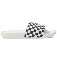 VANS WOMENS SLIDE-ON (CHECKERBOARD) WHITE BLACK
