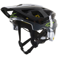 ALPINESTARS VECTOR TECH PILOT HELMET BLACK/WHITE/COOL GRAY GLOSSY