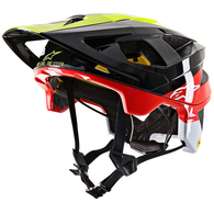 ALPINESTARS VECTOR TECH PILOT HELMET BLACK/YELLOW FLUORO/RED GLOSSY