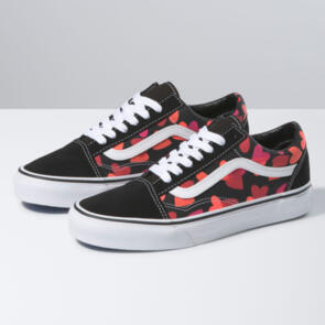 VANS OLD SKOOL (VALENTINES HEARTS) BLACK FUCHSIA PURPLE