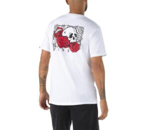 VANS ROSE BED SS TEE WHITE