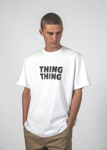 THING THING SS TEE WHITE STANCE