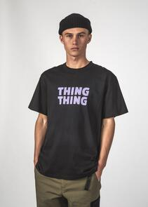 THING THING SS TEE BLACK STANCE