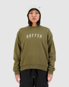HUFFER WOMENS SLOUCH CREW/STATESIDE OLIVE