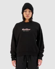 HUFFER WOMENS SLOUCH CREW/FAIRSIDE BLACK