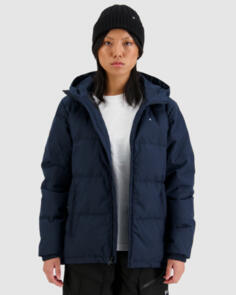 HUFFER 2021 WOMENS CLASSIC DOWN JACKET HERRINGBONE NAVY