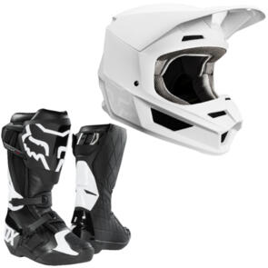 FOX RACING WEEKEND WARRIOR 2020 V1 MATTE WHITE + COMP R BOOTS