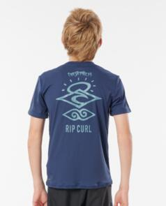 RIP CURL WETSUITS 2021 BOYS SEARCH LOGO SS NAVY
