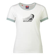 ETNZ WOMENS LOGO T-SHIRT - WHITE
