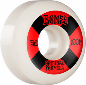 BONES 100'S #4 52MM WHITE RED V5 SIDECUT