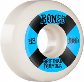 BONES 100'S #4 53MM WHITE BLUE V5 SIDECUT