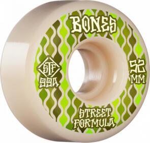 BONES RETROS STF 99A 52MM WHITE GREEN V2 LOCKS