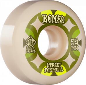 BONES RETROS STF 99A 55MM WHITE GREEN V5 SIDECUT