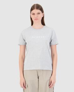 HUFFER WOMENS STELLA TEE/UPSTREAM GREY MARLE