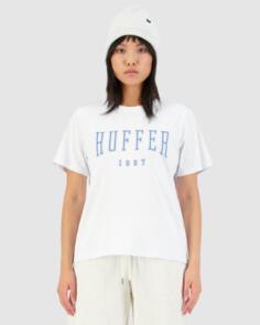 HUFFER WOMENS STELLA TEE/ECHO WHITE