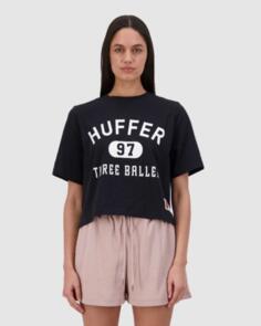 HUFFER 3 BALLER CHLOE TEE NAVY