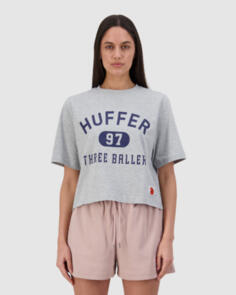 HUFFER 3 BALLER CHLOE TEE GREY MARLE