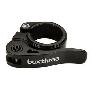 BOX THREE QUICK RELEASE 25.4 SEAT CLAMP - BLACK