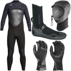 XCEL WETSUITS 2021 DRYLOCK 4/3MM + BOOTS, GLOVES & HOOD COMBO!