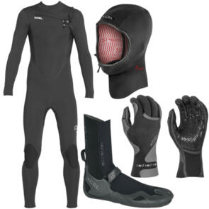 XCEL WETSUITS 2021 YOUTH COMP + BOOTS, HOOD & GLOVES COMBO!