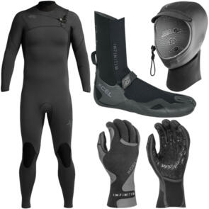 XCEL WETSUITS 2021 COMP 4/3MM + BOOTS , HOOD & GLOVES PACKAGE!