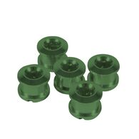 INSIGHT 8.5MM ALLOY CHAINRING BOLTS (GREEN) - 4MM