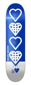 "THE HEART SUPPLY JAGGER EATON WORLD  DECK BLUE 8.25"""""
