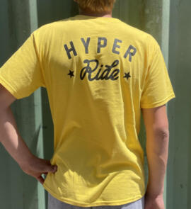 HYPER RIDE 2021 YOUTH LOGO TEE YELLOW