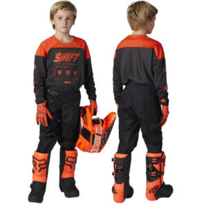 SHIFT 2021 YOUTH WHITE LABEL FLAME JERSEY + PANTS COMBO