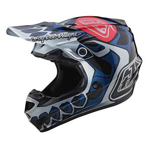 TROY LEE DESIGNS 2021 SE4 ECE POLYACRYLITE SKULLY SILVER | YOUTH