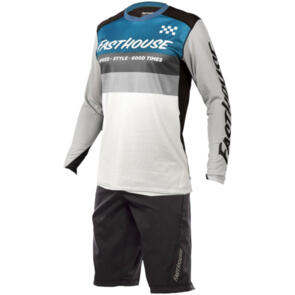 FASTHOUSE 2021 YOUTH ALLOY KILO L/S + YOUTH CROSSLINE SHORTS